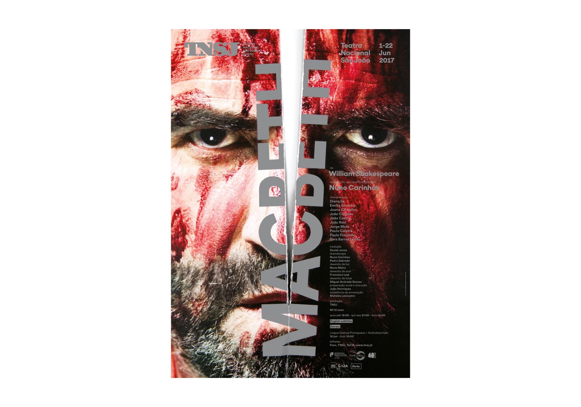 São João National Theatre Posters 2017-2018 Image:8 dobra-tnsj-Macbeth